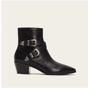 Frye Ellen buckle leather boot